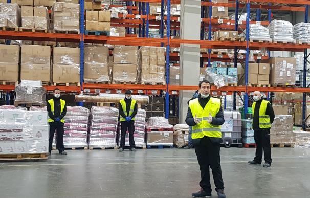 Massimo Marsili, director general de la división de Transporte de XPO Logistics en España, Portugal y Marruecos, en un almacén