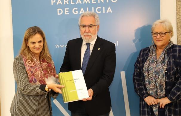 La Valedora do Pobo entrega al presidente del Parlamento el informe correspondiente a 2018