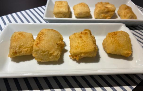 Croquetas de jamón: un bocado exquisito a partir de ingredientes humildes.