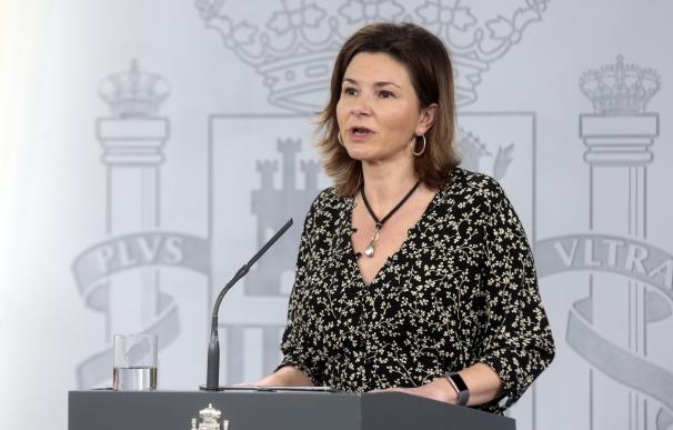 La secretaria general de Transportes y Movilidad, María José Rallo, durante una rueda de prensa