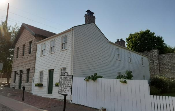 Imagen de la Casa Museo de Mark Twain, en Hannibal, Misuri