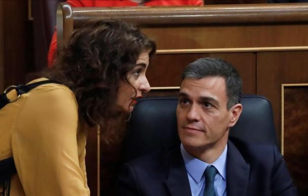 Fotografía Pedro Sánchez María Jesús Montero / EFE