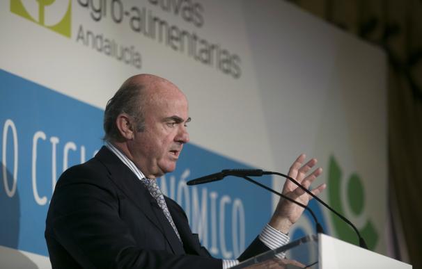 El exministro de Economía y actualmente vicepresidente del Banco Central Europeo, Luis de Guindos