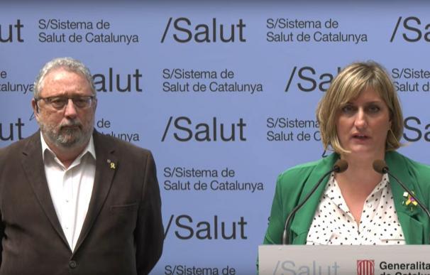 Rueda de prensa telemática de la consellera de Salud de la Generalitat, Alba Vergés, y el secretario de Salud Pública, Joan Guix