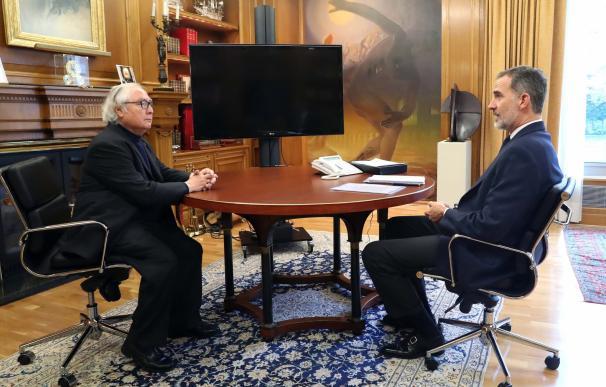El Rey se reúne con el Ministro de Universidades, Manuel Castells