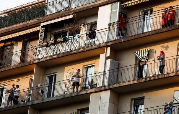 coronavirus en España - aplauso 20h