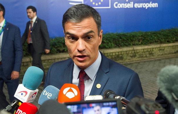 El presidente del Gobierno español, Pedro Sánchez, tras la cumbre informal de los líderes de la Unión Europea. /EFE