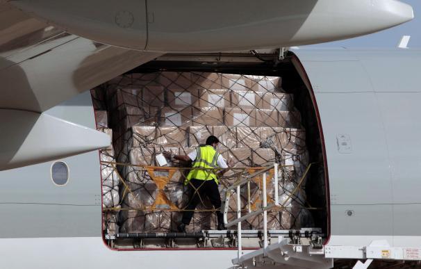 Llega el decimocuarto avión con 50,8 toneladas de material sanitario adquirido por la Comunidad Valenciana