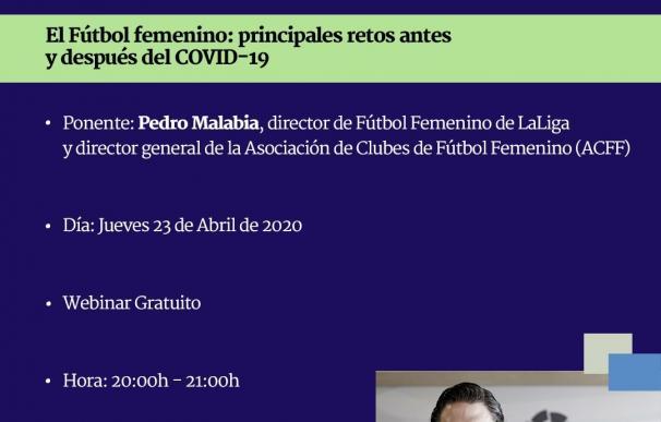 Pedro Malabia analizará los retos del fútbol femenino antes y después de la COVID-19