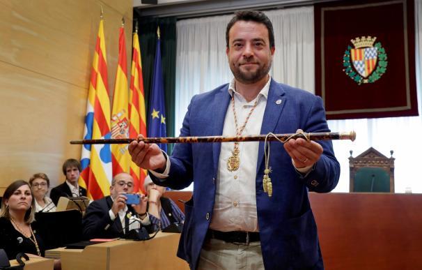 El actual alcalde socialista de Badalona, Àlex Pastor, que ha revalidado este sábado su cargo. /EFE