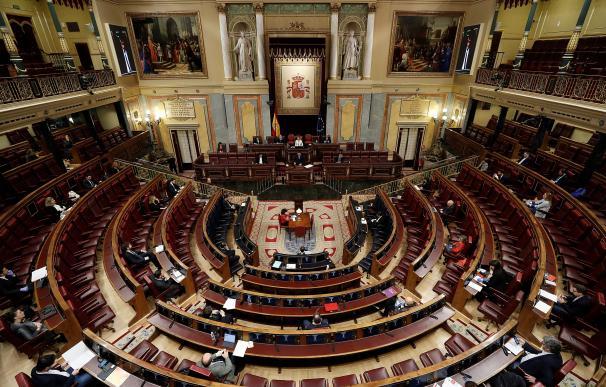 El presidente del Gobierno, Pedro Sánchez, durante su intervención en la sesión de control al ejecutivo celebrada este miércoles en el Congreso