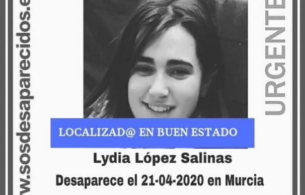 Localizada la menor desaparecida en Murcia