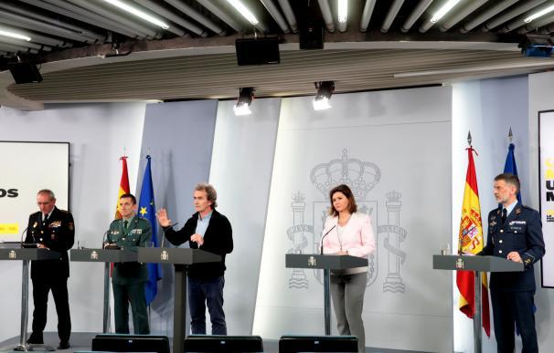 Rueda de prensa de los expertos en Moncloa, tras su reunión diaria