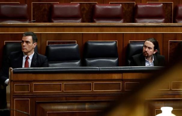 Fotografía Pedro Sánchez y Pablo Iglesias / EP