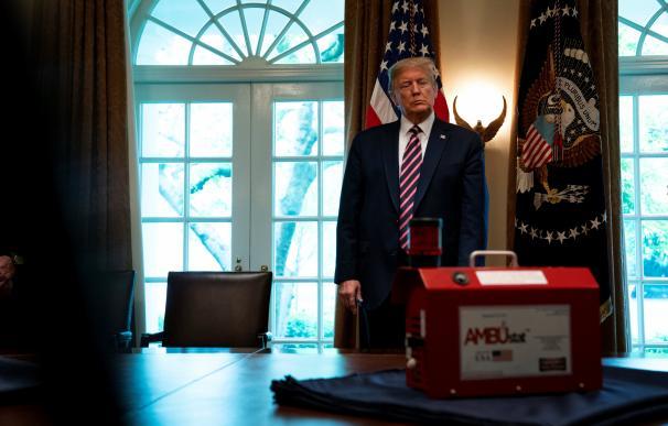 El presidente de Estados Unidos, Donald Trump, en un despacho de la Casa Blanca