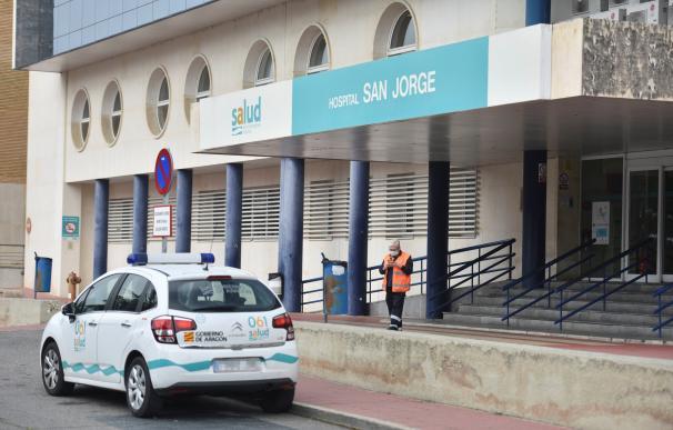 El agente herido ha sido trasladado al hospital de San Jorge, en Huesca