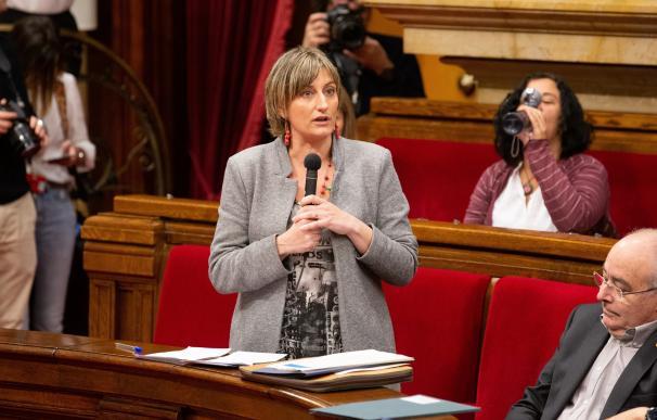 Alba Vergés en el Parlament