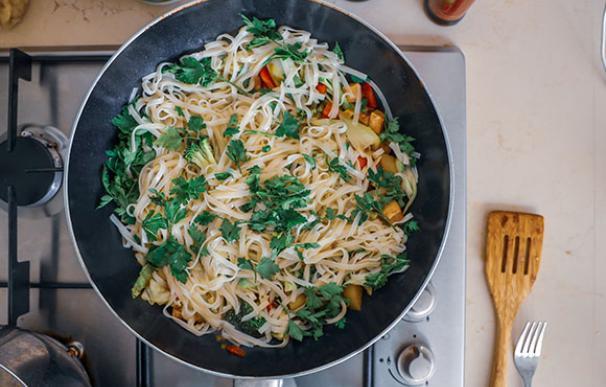 Shiratakis de pasta konjac, receta tradicional asiática