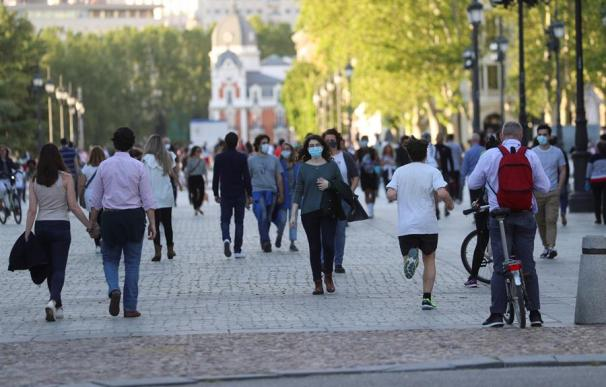 Calles de Madrid durante la fase 0
