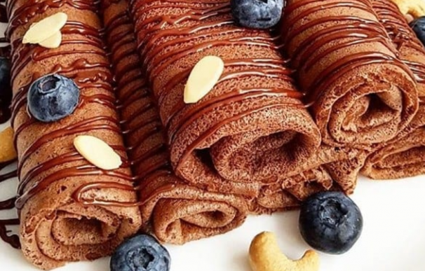 Fotografía de los crepes sanos de chocolate que arrasan en Instagram.