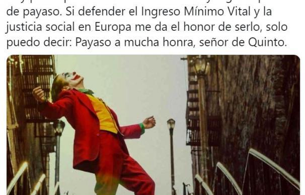El tuit del vicepresidente Pablo Iglesias. /L.I.