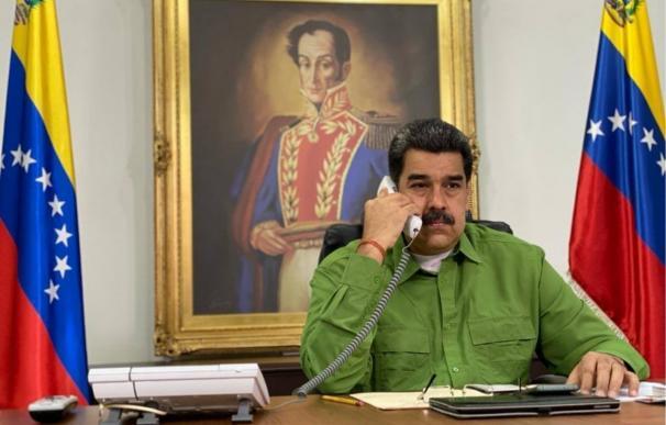 Nicolás Maduro, en el Palacio de Miraflores