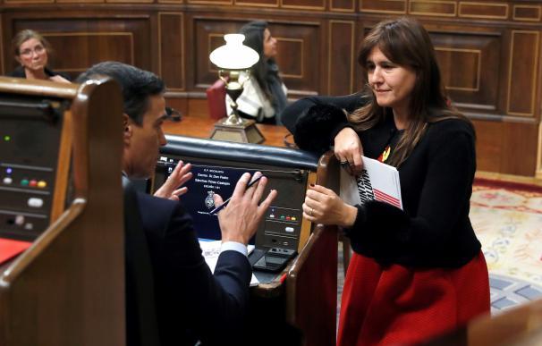 Fotografía Laura Borrás y Pedro Sánchez / EFE