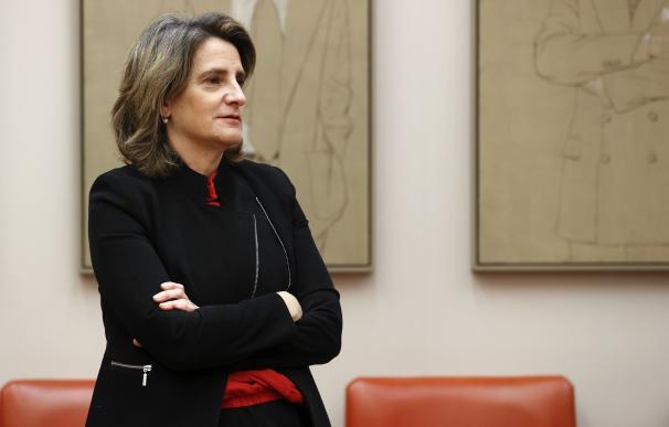 La ministra para la Transición Ecológica, Teresa Ribera, en su comparecencia de esta semana en el Congreso