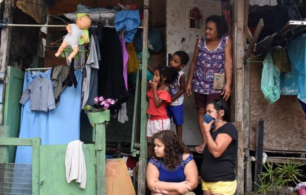 Residentes de favelas en Río de Janeiro