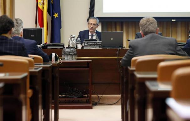 Pablo Hernández de Cos, gobernador del Banco de España en su comparencencia en la Comisión de Asuntos Económicos en el Congreso de los Diputados.