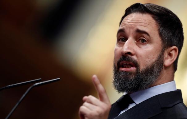 Santiago Abascal, Vox, en el Congreso de los Diputados