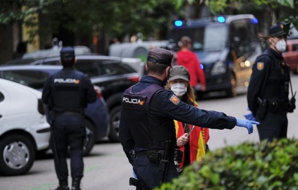 Policía Nacional control coronavirus