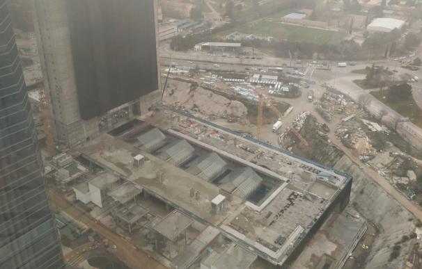 Obras de la Quinta Torre de OHL desde Torre Espacio.