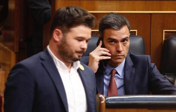Fotografía Pedro Sánchez y Gabriel Rufián / EP