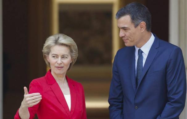 Sánchez y Von der Leyen en Moncloa / EFE