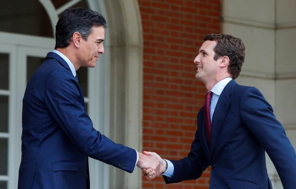 Sánchez inicia con Casado la ronda de contactos con principales partidos de la oposición