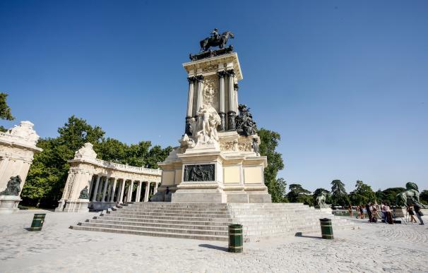 Imagen del monumento a Alfonso XII en el Parque del Retiro de Madrid.