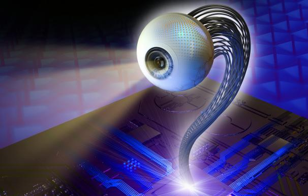 Recreación del nuevo dispositivo artificial para visión. /L.I.