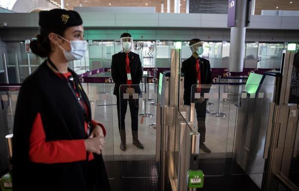 Seguridad aeropuerto Charles de Gaulle coronavirus París Francia