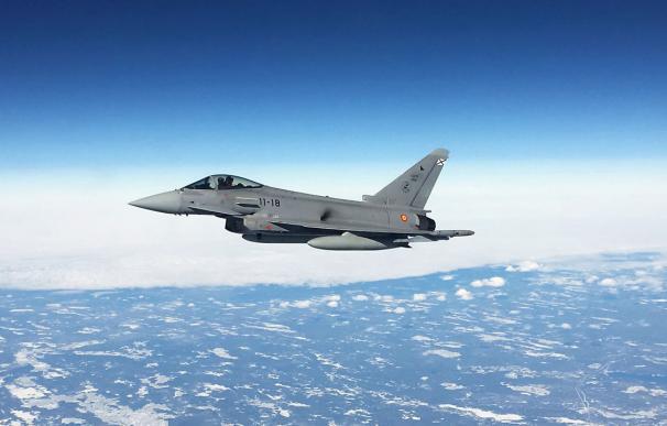 Eurofighter del Ala 11 en las penúltimas maniobras Red Flag