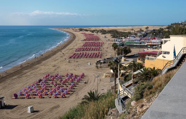 Fotografía de la Playa del Inglés (Gran Canaria).