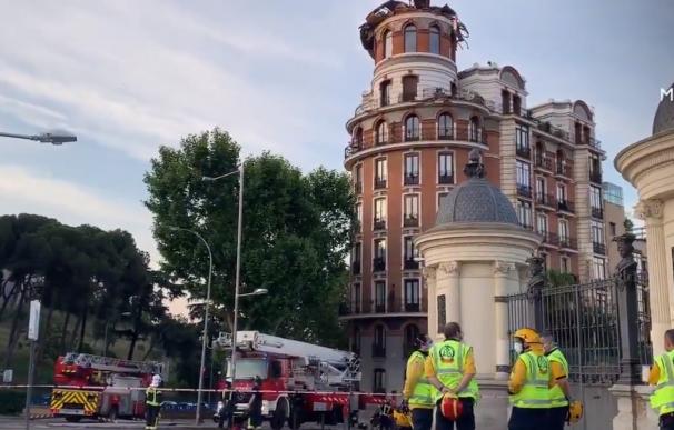 Se derrumba la cúpula de un edificio cerca de El Retiro sin causar heridos