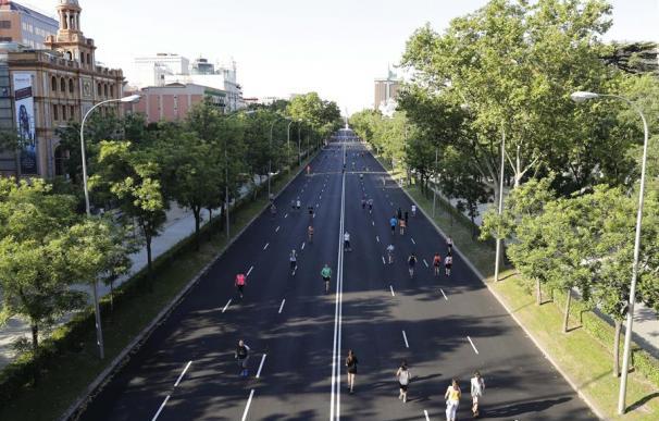 El Paseo de la Castellana de Madrid, el pasado fin de semana