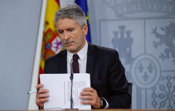 """Marlaska insiste que estamos ante un problema de """"estricto orden público"""". /EFE"""