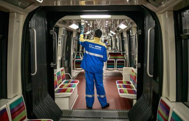 Limpieza metro París coronavirus