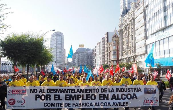 Protesta contra el cierre de Alcoa en Avilés.