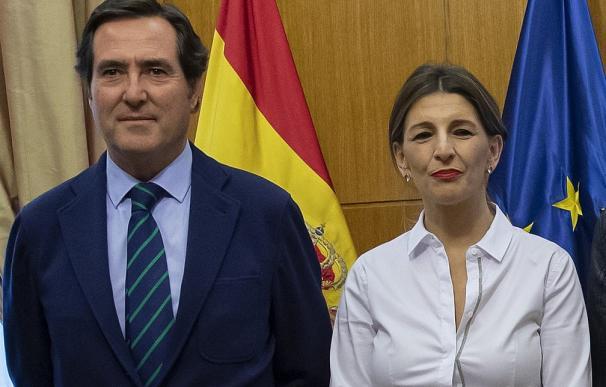 Antonio Garamendi y Yolanda Díaz