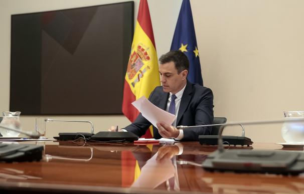 El presidente del Gobierno, Pedro Sánchez, se reúne por videoconferencia con los presidentes autonómicos, en Madrid