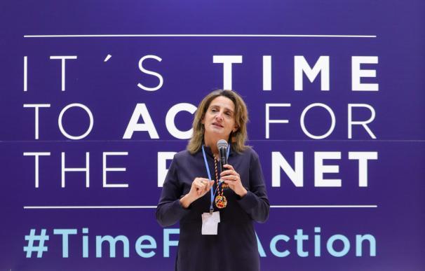 La ministra para la Transición Ecológica en funciones, Teresa Ribera clausura la duodécima jornada de la Cumbre del Clima (COP25) en Ifema, Madrid (España), a 13 de diciembre de 2019. 13 diciembre 2019, COP25, CUMBRE DEL CLIMA. (Foto de ARCHIVO) 12/13/2019