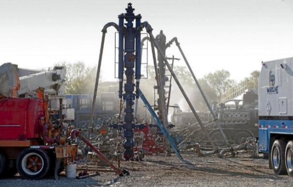 Instalaciones para extraer gas mediante la técnica de fracking.